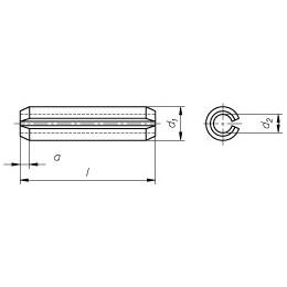 Pin Hollow 3x36 DIN 1481